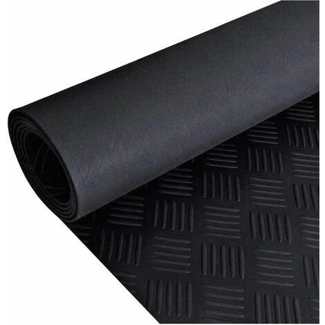 Estera Antideslizante de Caucho del Suelo - 2x 1 m Placa de Cuadros