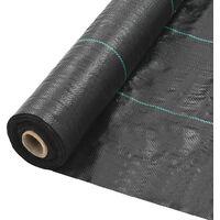 Estera de control de malezas y raíces PP 2x50 m negro