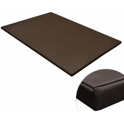 Estera para perros rectangular marrón XL