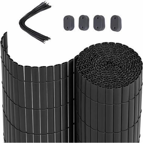 Estera Protectora de Intimidad Cañizo de PVC Doble Cara Para Jardín Balcón Beige 80 x 500cm GPF3085M - Beige