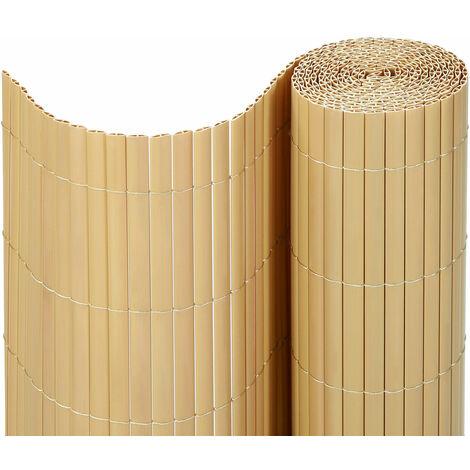 Estera Protectora de Intimidad Cañizo de PVC Marrón/Gris/Beige 80/90/100/180 x 300/400/500cm