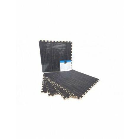 Esterilla Puzzle para Suelos de Gimnasios y Fitness de Goma Eva. Imitación Parqué. 4 Piezas de 60x60 cm. Antideslizante