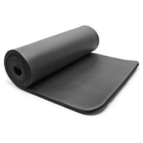 Esterilla Yoga negro 190x100x1.5cm colchoneta gimnasia deporte suelo