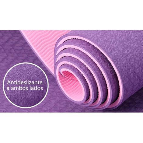 Esterilla Yoga Pilates 183 x 61 cm TPE Bicolor Colchoneta Entrenamiento Suelo