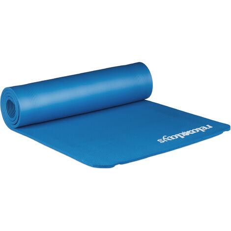 Esterilla Yoga Plegable y Acolchada, Gris, Caucho, 1 x 61,5 x 182 cm