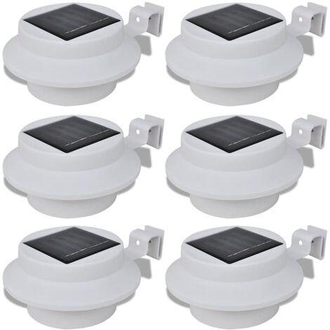 4x Lampada Solare Lampada Solare LED grondaie Esterno Recinzione lampada lampada lampada da parete luce