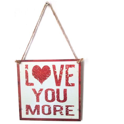 Estilo de la vendimia de madera que cuelga de pared Decoracion de mesa hechos a mano signos puerta rustica Adornos placa Percha de vacaciones de San Valentin regalo, 1 #