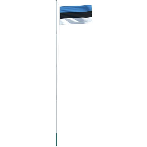 Estonia Flag and Pole Aluminium 6,2 m