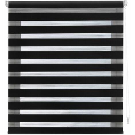Estor EASYFIX Noche y Dia negro - 107x180 cm (ancho x alto)