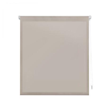 Estor Enrollable 140X180 MARFIL Translúcido EASY FIX, Fácil Montaje mediante Pinzas Marco Ventana o Adhesivo