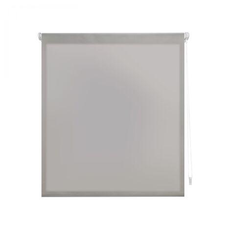 Estor Enrollable 140X180 PLATA Translúcido EASY FIX, Fácil Montaje mediante Pinzas Marco Ventana o Adhesivo