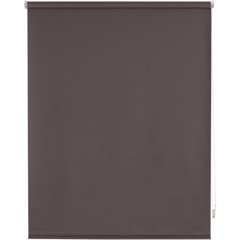 Estor enrollable blackout liso marrón grisáceo