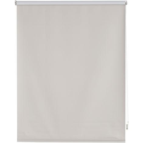 Estor enrollable blackout liso plateado - 100x175 cm (ancho x alto)