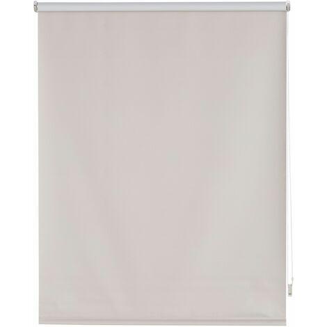 Estor enrollable blackout liso plateado - 160x175 cm (ancho x alto)