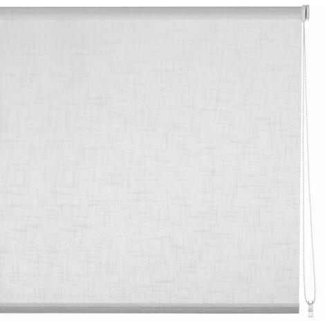 Estor enrollable blanco de tela de 100x250 cm