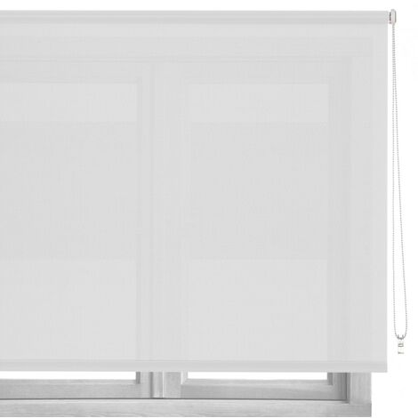 Estor enrollable blanco de tela de 160x250 cm