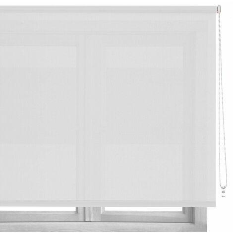 Estor enrollable blanco de tela de 180x100 cm