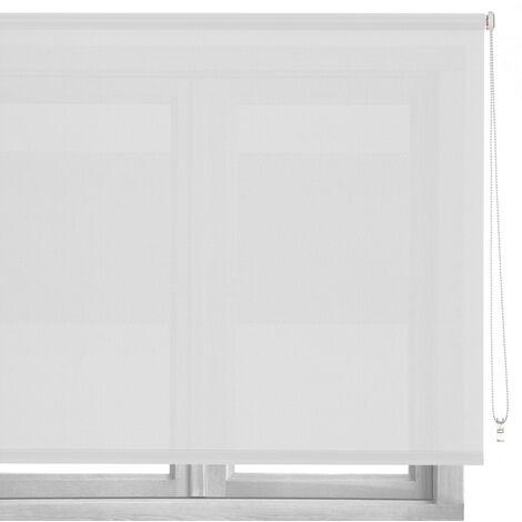 Estor enrollable blanco de tela de 80x250 cm