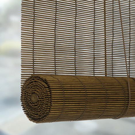 Estor enrollable de bambú natural Castaño 120 x 175 cm