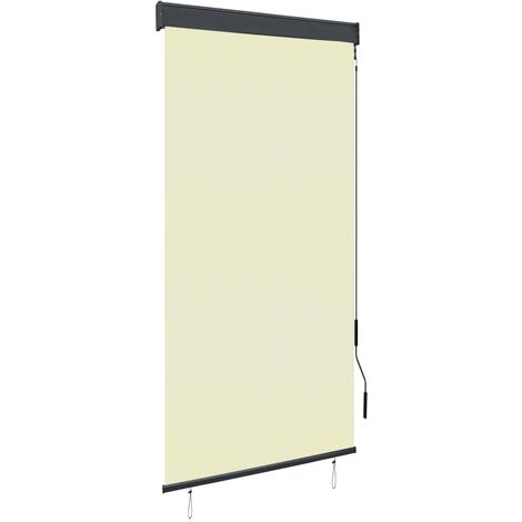 Estor enrollable de exterior color crema 100x250 cm