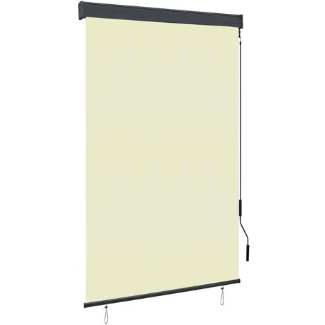 Estor enrollable de exterior color crema 120x250 cm