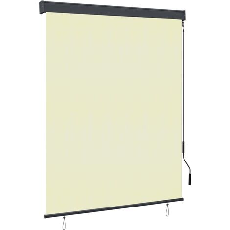 Estor enrollable de exterior color crema 140x250 cm