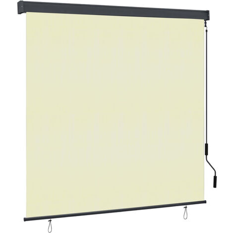 Estor enrollable de exterior color crema 160x250 cm