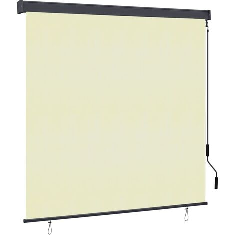 Estor enrollable de exterior color crema 160x250 cm - Crema