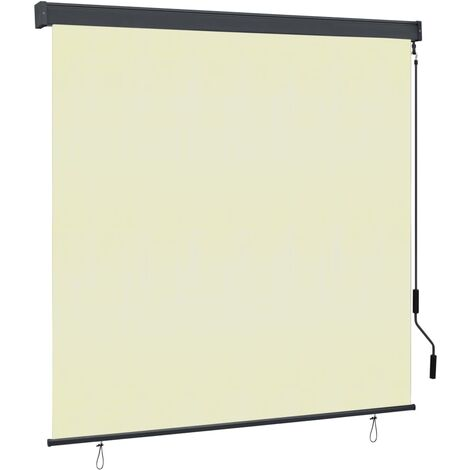 Estor enrollable de exterior color crema 170x250 cm