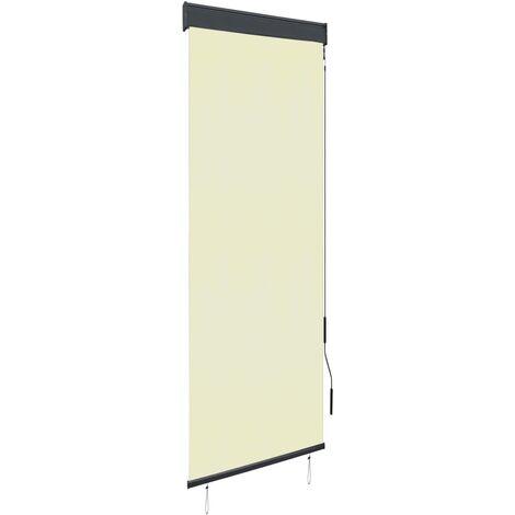 Estor enrollable de exterior color crema 60x250 cm