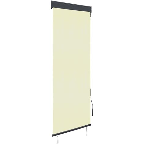 Estor enrollable de exterior color crema 60x250 cm