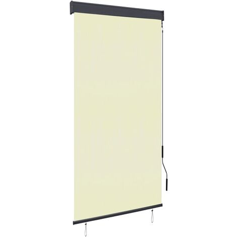 Estor enrollable de exterior color crema 80x250 cm