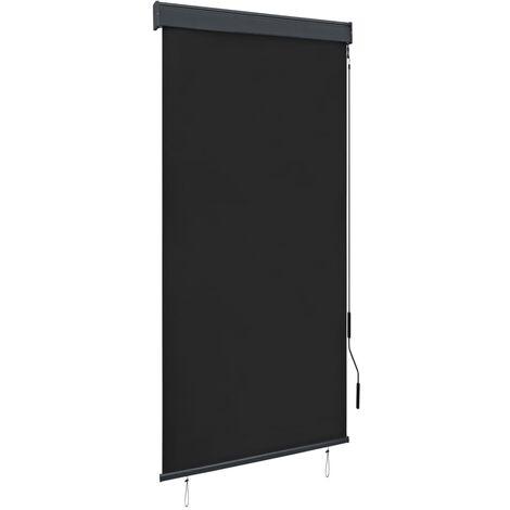 Estor enrollable de exterior gris antracita 100x250 cm