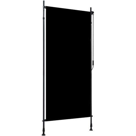 Estor enrollable de exterior gris antracita 100x270 cm