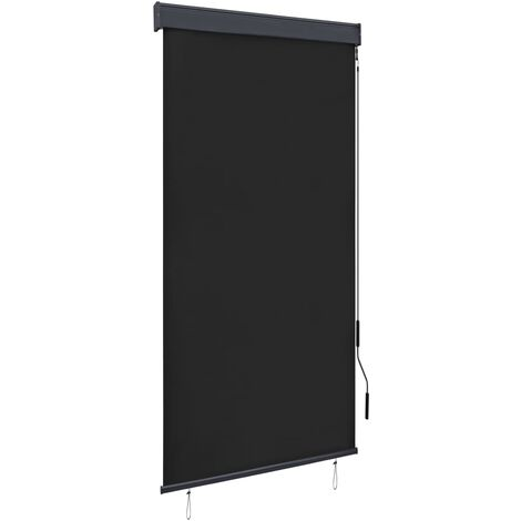 Estor enrollable de exterior gris antracita 80x250 cm