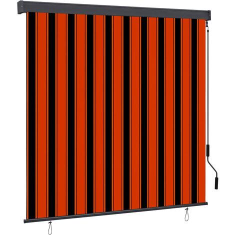 Estor enrollable de exterior naranja y marrón 170x250 cm