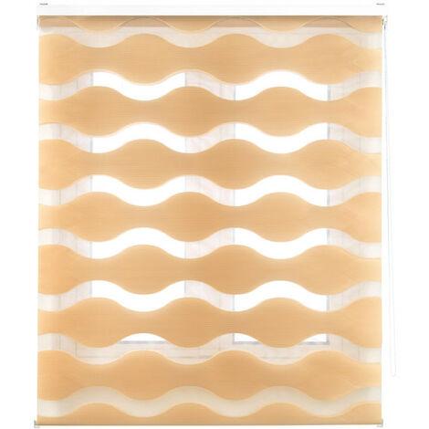 Estor enrollable doble tejido alta calidad, noche y día ondas