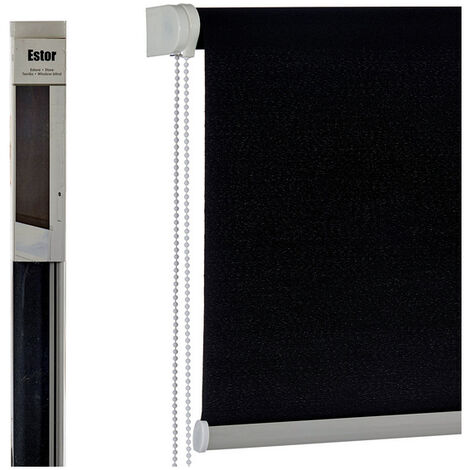 Estor Enrollable Gift Decor Negro (4,5 X 161 X 4,5 Cm)