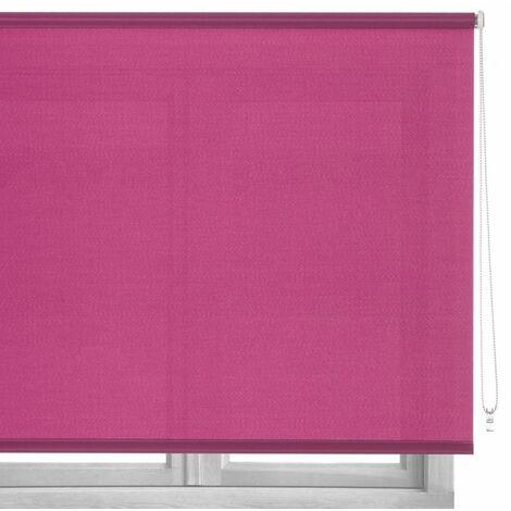Estor enrollable rosa de tela de 80x180 cm