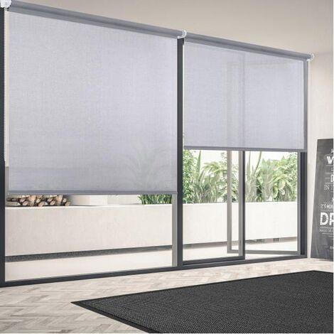 Estor enrollable screen Gris 120x250 cm