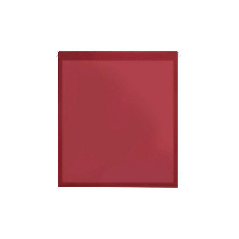 Aure- Estor enrollable translúcido Easy Fix, 37x180 cm ancho x alto, Color Burdeos - BLINDECOR
