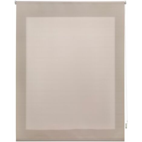 Estor enrollable translúcido liso marfil 100x175 cm (ancho x alto)