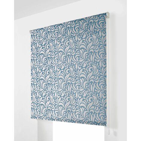 Estor Enrollable Traslúcido Azul Estampado 170x250Cm - Ancho x Largo - Con estampado decorativo, Estor dormitorio, Estor enrollable cocina, Estor plegable, Estor enrollable, habitación, salón y dormitorio