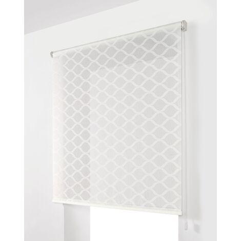 Estor Enrollable Traslúcido Blanco 110x250Cm - Ancho x Largo - Con estampado decorativo