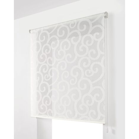 Estor Enrollable Traslúcido Blanco 130x175Cm - Ancho x Largo - Con estampado decorativo