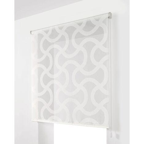 Estor Enrollable Traslúcido Blanco 150x175Cm - Ancho x Largo - Con estampado decorativo