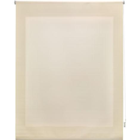 Estor enrollable traslúcido liso beige 160x175 cm (ancho x alto)