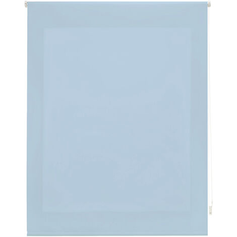Estor enrollable traslúcido liso celeste 100x175 cm (ancho x alto)