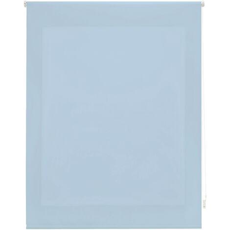 Estor enrollable traslúcido liso celeste 160x175 cm (ancho x alto)