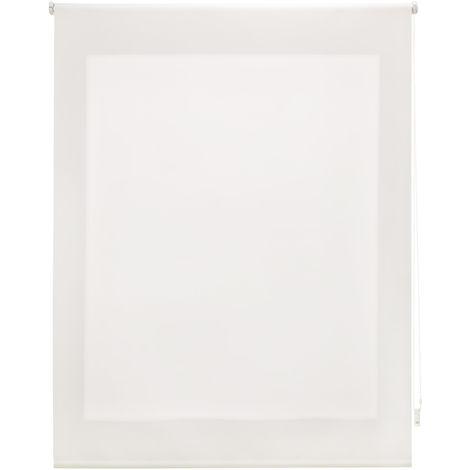 Estor enrollable traslúcido liso crudo 100x250 cm (ancho x alto)